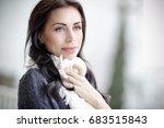 portrait of a beautiful...   Shutterstock . vector #683515843