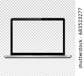 laptop with transparent screen... | Shutterstock . vector #683523277