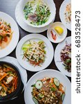 top view on big asian dinner... | Shutterstock . vector #683528473