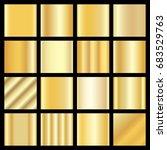 gold gradients. golden panel set | Shutterstock . vector #683529763
