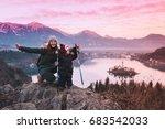 family travel slovenia  europe. ... | Shutterstock . vector #683542033