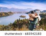 family travel europe. mother... | Shutterstock . vector #683542183