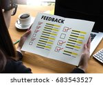 online reviews evaluation time... | Shutterstock . vector #683543527