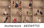 concept of different people...   Shutterstock . vector #683569753