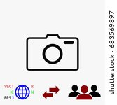 photo camera vector icon  flat...