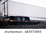 a long full sized semi trailer... | Shutterstock . vector #683572843