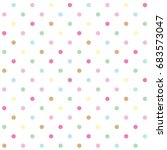 polka dots pattern background | Shutterstock .eps vector #683573047