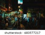 july 14  2017  soho district ... | Shutterstock . vector #683577217