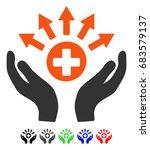 medical distribution care hands ... | Shutterstock .eps vector #683579137