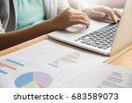 close up of business woman...   Shutterstock . vector #683589073