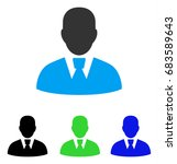 manager vector pictogram. style ... | Shutterstock .eps vector #683589643