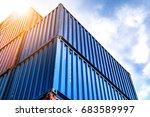 double exposure industrial... | Shutterstock . vector #683589997