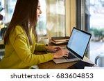 professional female owner of... | Shutterstock . vector #683604853