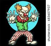 vector illustration of evil... | Shutterstock .eps vector #683607937