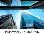 windows of skyscraper business... | Shutterstock . vector #683612737