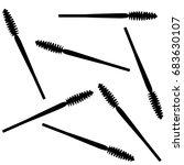 vector mascara pattern isolated ... | Shutterstock .eps vector #683630107
