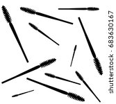 vector mascara pattern isolated ... | Shutterstock .eps vector #683630167