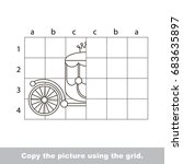 finish the simmetry picture...   Shutterstock .eps vector #683635897