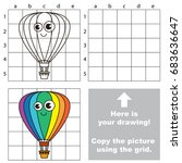 copy the picture using grid... | Shutterstock .eps vector #683636647