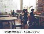 blur coffee shop cafe... | Shutterstock . vector #683639143