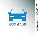 auto centre. auto repair... | Shutterstock .eps vector #683640157