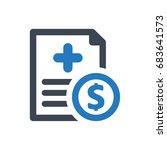 medical bill icon | Shutterstock .eps vector #683641573
