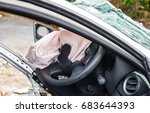 airbag exploded at a car... | Shutterstock . vector #683644393