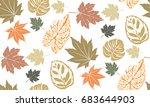 seamless autumn  vectors | Shutterstock .eps vector #683644903