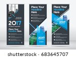 city background business roll... | Shutterstock .eps vector #683645707