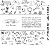 hand drawn doodle back to... | Shutterstock .eps vector #683655553