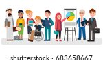 people of different... | Shutterstock .eps vector #683658667