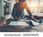 shot of businessman in casual... | Shutterstock . vector #683659603
