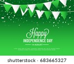 illustration for independence... | Shutterstock .eps vector #683665327