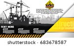 construction silhouette... | Shutterstock .eps vector #683678587