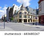 piotrkowska street  lodz poland ... | Shutterstock . vector #683680267