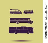 buses icon set. | Shutterstock . vector #683683567