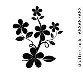black silhouette of flower | Shutterstock .eps vector #683687683