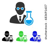 chemist vector icon. style is... | Shutterstock .eps vector #683691607