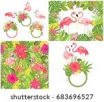 beautiful wedding design and...   Shutterstock . vector #683696527
