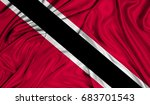 3d flag of trinidad and tobago... | Shutterstock . vector #683701543