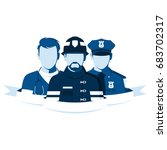 emblem of rescue team.... | Shutterstock .eps vector #683702317