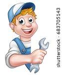 an illustration of a cartoon... | Shutterstock .eps vector #683705143