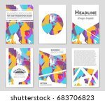abstract vector layout... | Shutterstock .eps vector #683706823