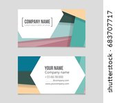 abstract vector layout... | Shutterstock .eps vector #683707717
