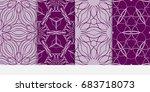 set of modern pattern of... | Shutterstock .eps vector #683718073
