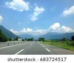 switzerland highway  | Shutterstock . vector #683724517