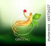 ginseng premium vector | Shutterstock .eps vector #683726227