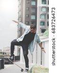 skateboard extreme sport skater ... | Shutterstock . vector #683726473