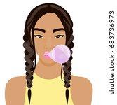 vector illustration with...   Shutterstock .eps vector #683736973