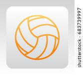 volleyball icon flat. | Shutterstock .eps vector #683739997